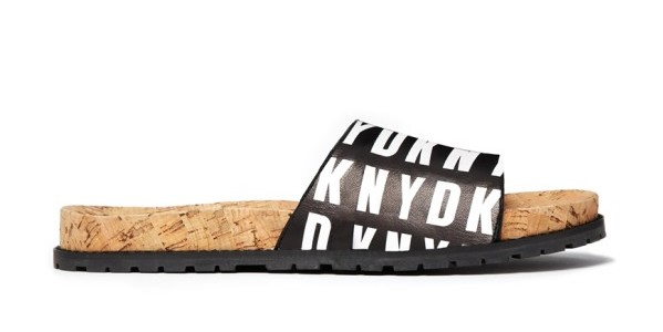 DKNY Active HQ Print Slider Sandals