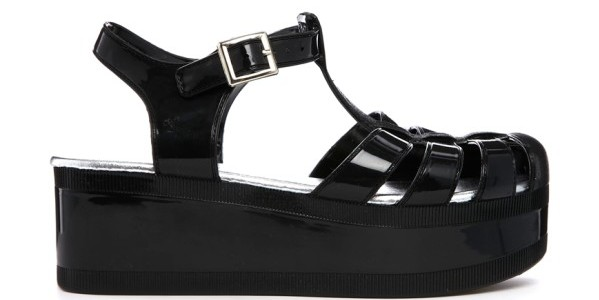 Truffle Jelly Flatform T-bar Sandals