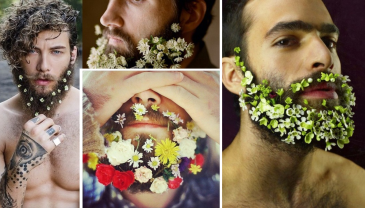 barba uomo fiore