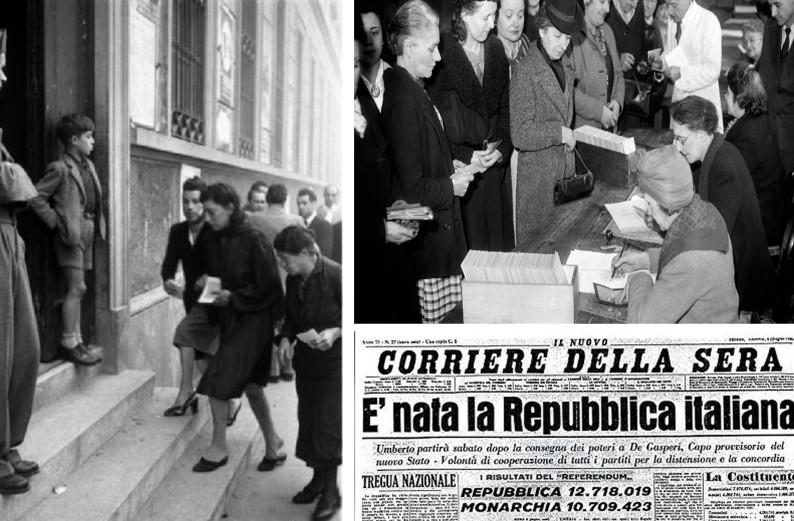 2 giugno 1946 la nascita della repubblica italiana ed il for Repubblica italiana nascita