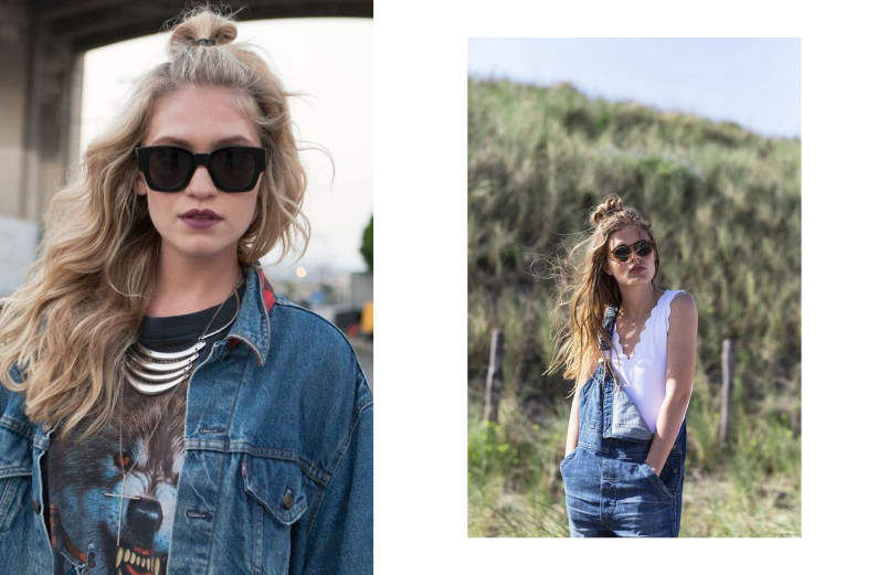 CHIC STYLE HALF TOP KNOT