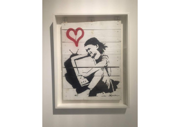 banksy wood art
