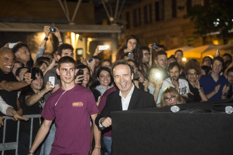 Roma. Roberto Benigni presenta il film Non ci resta che piangere al festival trastevere rione cinema - fotografo: Benvegnù-guaitoli-lannutti