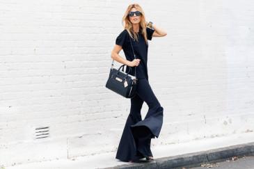 pantaloni a zampa trend