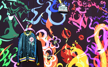Gucci Words Room in Gucci Ginza by Japanese artist Daito Manabe