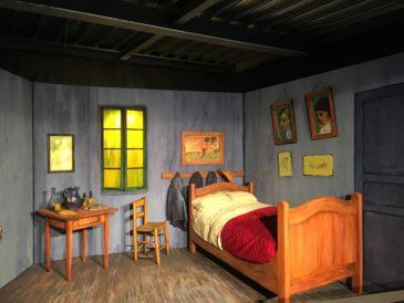 Ricostruzione Camera ad Arles - mostra Van Gogh