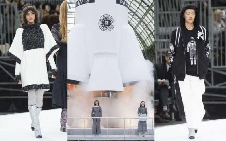 new product 4bea2 fa6a7 Una sfilata spaziale: collezione Chanel autunno inverno 2017-18